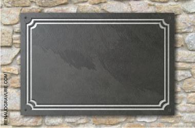 plaque de maison en marbre